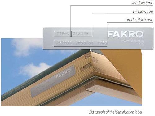 FAKRO roof window size
