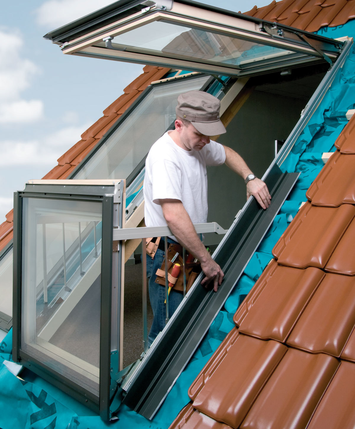 Balcony roof window installer